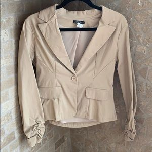 Jackets & Coats - Tan Coloured Blazer (Very Stretchy!)